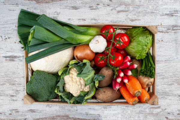 Vegetable set box for 2 to 4 people